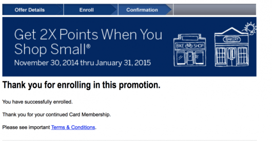Get 2X points for small business shopping with your Everyday Amex