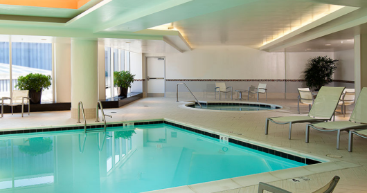 DC's Embassy Suites is one of the only properties in Chevy Chase with an indoor pool.