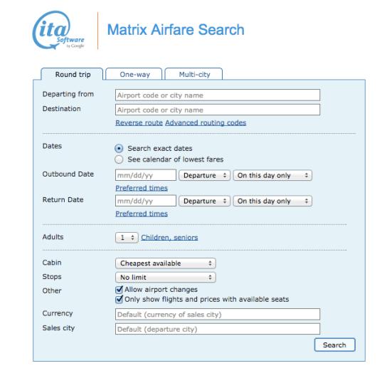 ITA Matrix Software