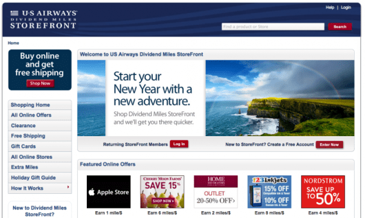 Online shopping portals are a great way to rack up bonus miles.