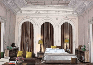 A rendering of a guest room at the soon-to-open Soho House Istanbul.
