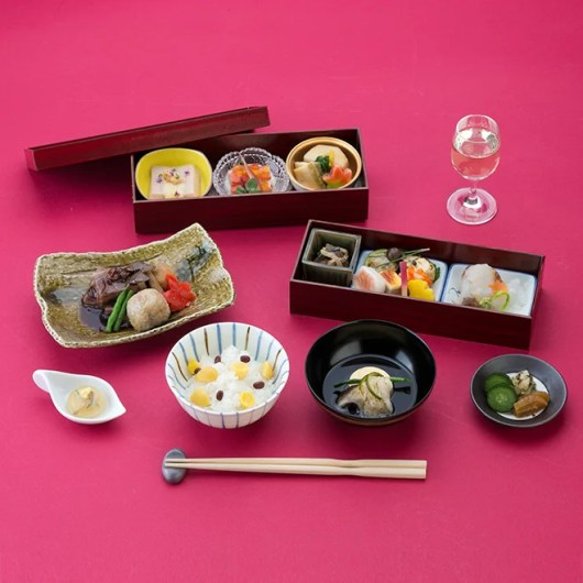 Sample Japanese menu items from JAL first class.