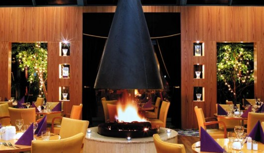 Dinner by the fire at Reykjavik's Radisson Blu Saga