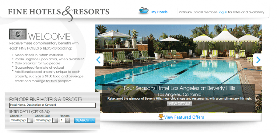 American Express Fine Hotels & Resorts benefits can add up to thousands of dollars per stay.