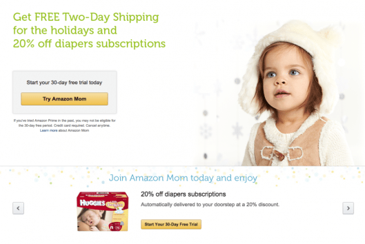 Amazon Mom is one way to make the most of your diaper purchases.
