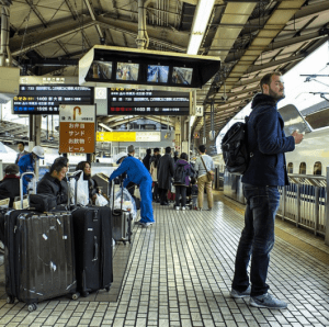 Getting to Kyoto from Tokyo on the Shinkansen (bullet train) could hardly be easier.
