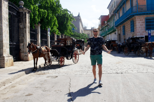 Happy to be in Old Havana— which sometimes reminded me of New Orleans