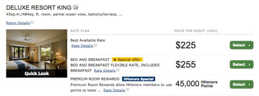 Conrad Bali Premium Room Rewards