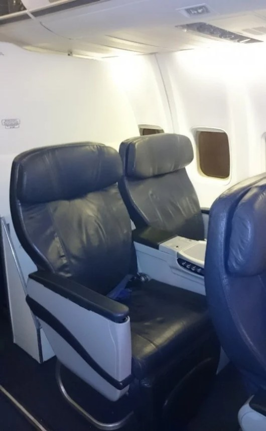 My seat, in fact, the same one on all three flights!