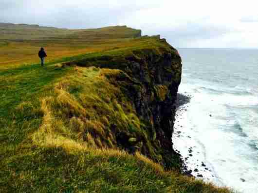 The cliffs at Látrabjarg in the Westfjords