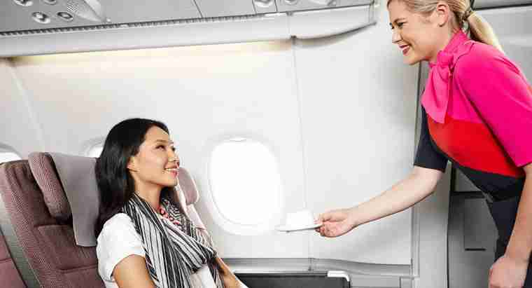 Premium economy on Qantas gives you more comfort and better dining options and is found on A380 and 747 planes.