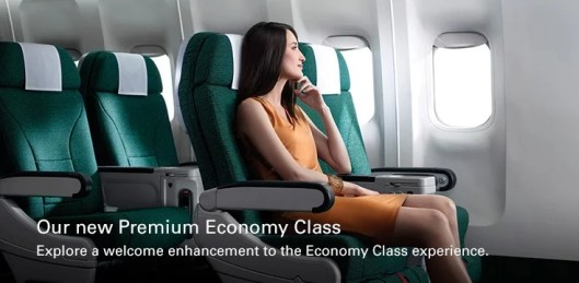 Cathay Pacific's premium economy may not look luxurious, but it comes with some nice amenities.