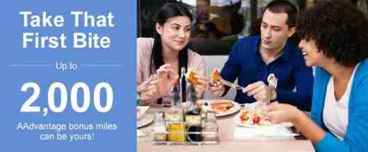 Earn bonus AAdvantage miles for dining out