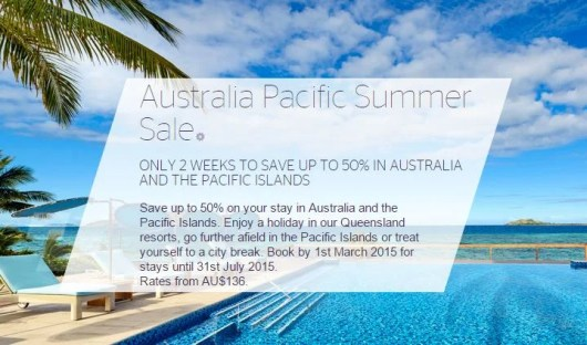 Up to 50% off Australia Pacific Starwood stays