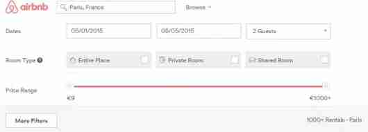 "Make sure to check ""Entire Place"" if you want a private apartment or home. Click on ""More FIlters"" to narrow your search even further."