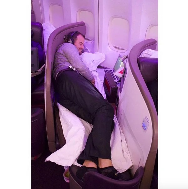Remember that time I was even too tall for business class?