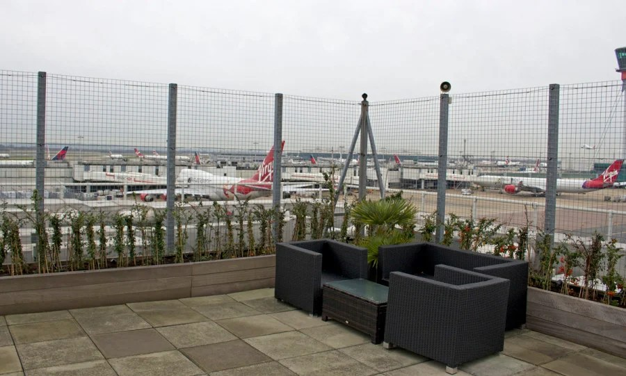 The roof deck was perfect for plane spotting.