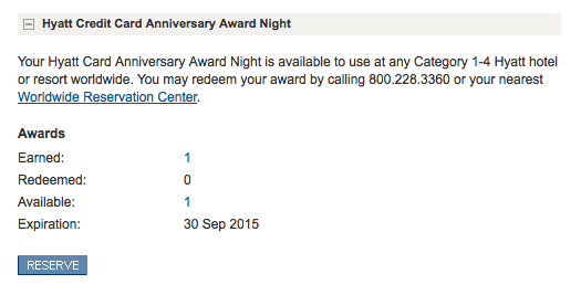 Check your available upgrades and free night certificates online.