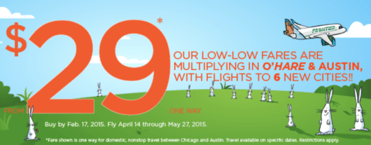 Frontier is offering a one-day sale with $29 fares.