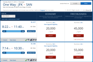 While this prices as 20,000 SkyMiles as a Medallion, it may be less if you aren