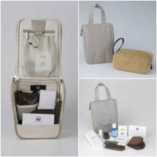 First Class Amenity Kit - Courtesy of Japan Airlines