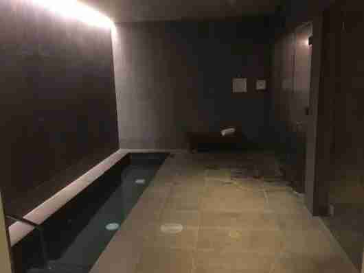 The spa was private and relaxing.