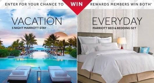 Win a Marriott stay & Marriott bedding