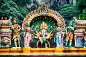Hindu temple at the Batu Caves. Photo courtesy of Shutterstock.