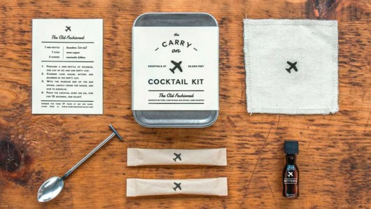 The Carry on Cocktail Kit includes everything needed to create the perfect Old Fashioned (minus the liquor)