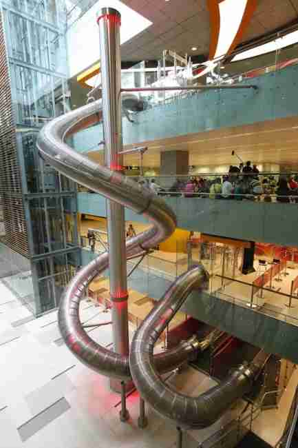 The famous slide in Singapore