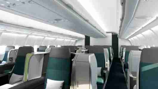 Aer Lingus has started installing its new business class seats aboard its A330