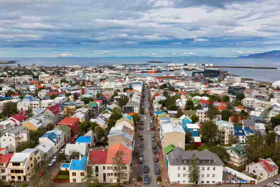 Reykjavik city center (photo courtesy of dvoevnore via Shutterstock)