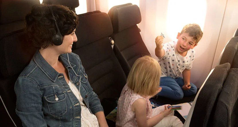 Air New Zealand's Skycouch is a unique aspects of their economy class product