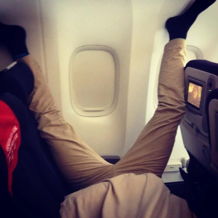 So glad you feel at home while onboard—but seriously?!(Passenger Shaming)