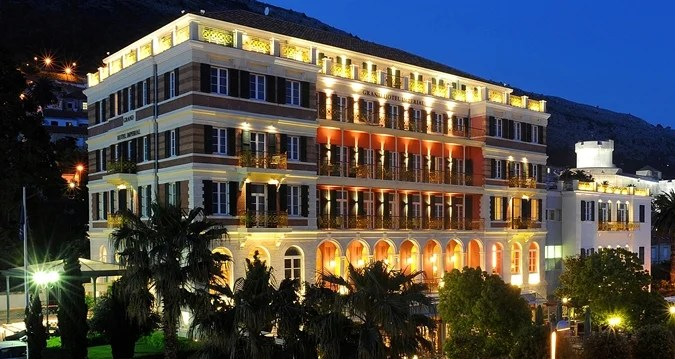 The beautiful exterior of the Hilton Imperial Dubrovnik