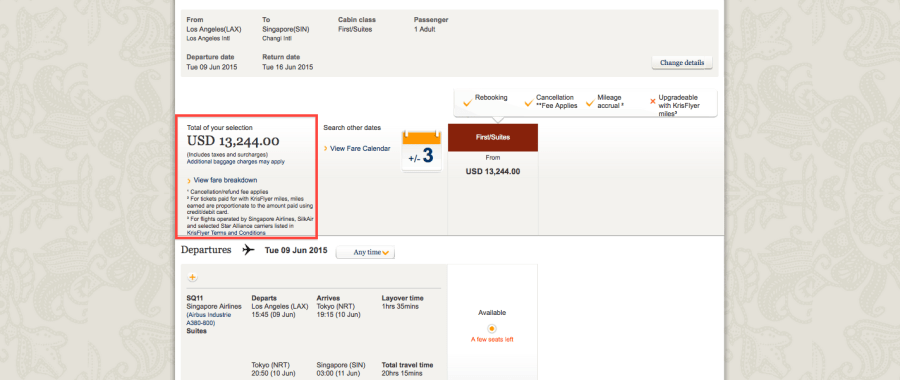 First Class Suite tickets can run well over $13,000, making awards the only feasible way to fly them for most folks.