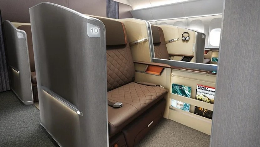 The new first class cabin is available only on a few select routes for now. Photo courtesy of Singapore Airlines.