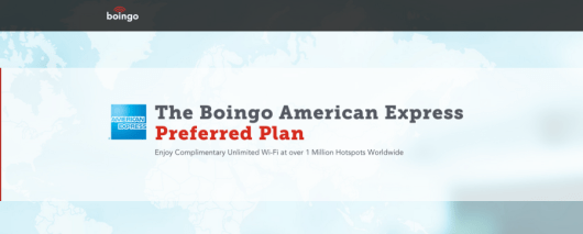 If you hold the Amex Platinum, the new partnership between Boing and American Express gives you free internet at over a million hotspots worldwide.