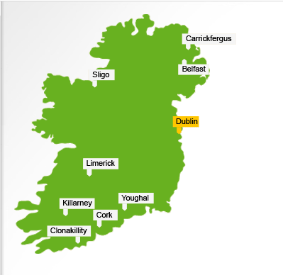 Choice Hotels offers properties in 7 cities across Ireland (and 2 in Northern Ireland).