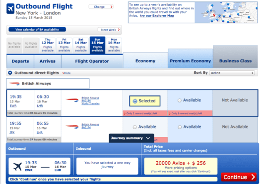 Flying British Airways with Avios usually entails steep fuel surcharges.