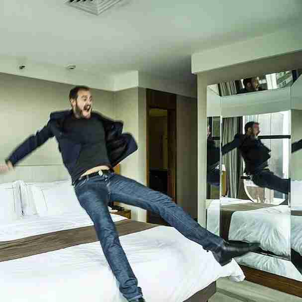 That moment your room is finally ready after a 10 hour red-eye