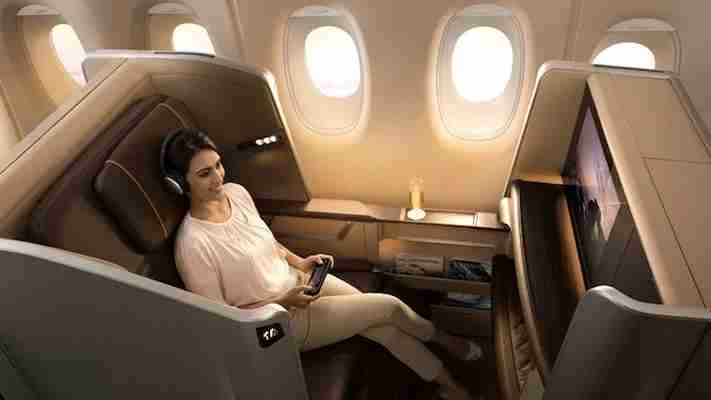 Though not suites, the new first class seats look pretty swanky. Photo courtesy of Singapore Airlines.