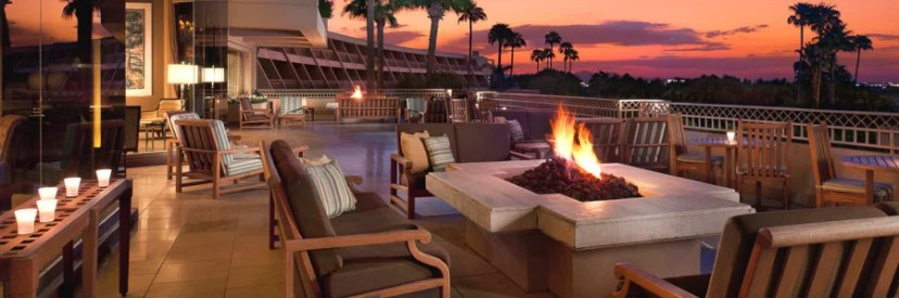 Enjoy fire pits and gorgeous sunset at The Phonecian.