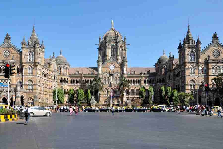 Victoria Terminus is the famous train station building. Photo courtesy of Shutterstock.