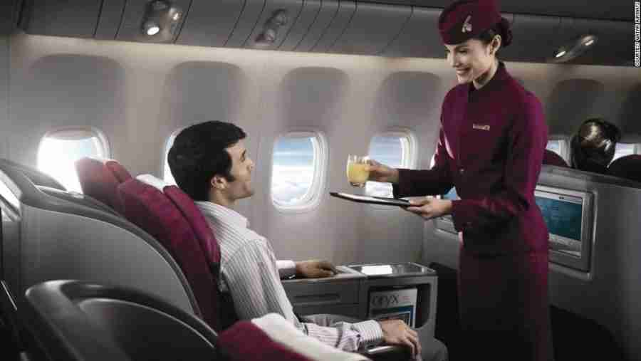 Qatar Airways has two master chefs on call.