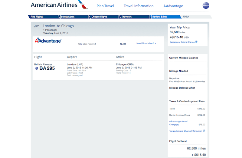 Though surcharges are high, AA miles are your best option.