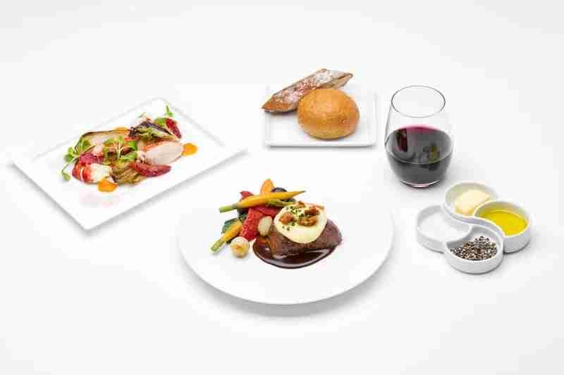 LA chef Joachim Splichal has created all-new dishes for ANA.
