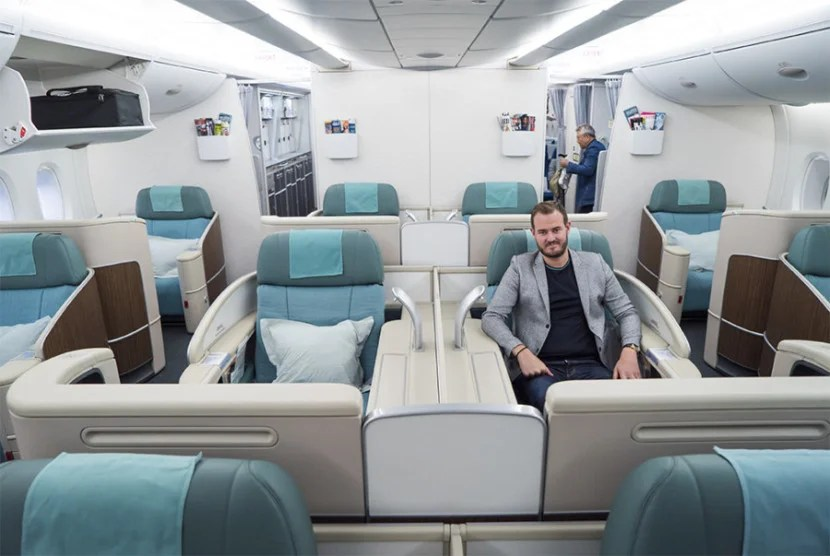 korean air 39 s new first class will offer more privacy but. Black Bedroom Furniture Sets. Home Design Ideas