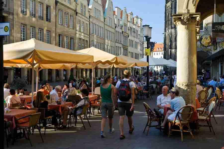 The Prinzipalmarkt in Münster (also known as Muenster). Photo courtesy of Münster Marketing / Ralf Emmerich.