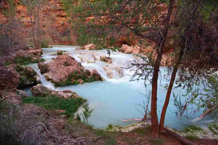 The gorgeous blue-green falls at Havasupai.